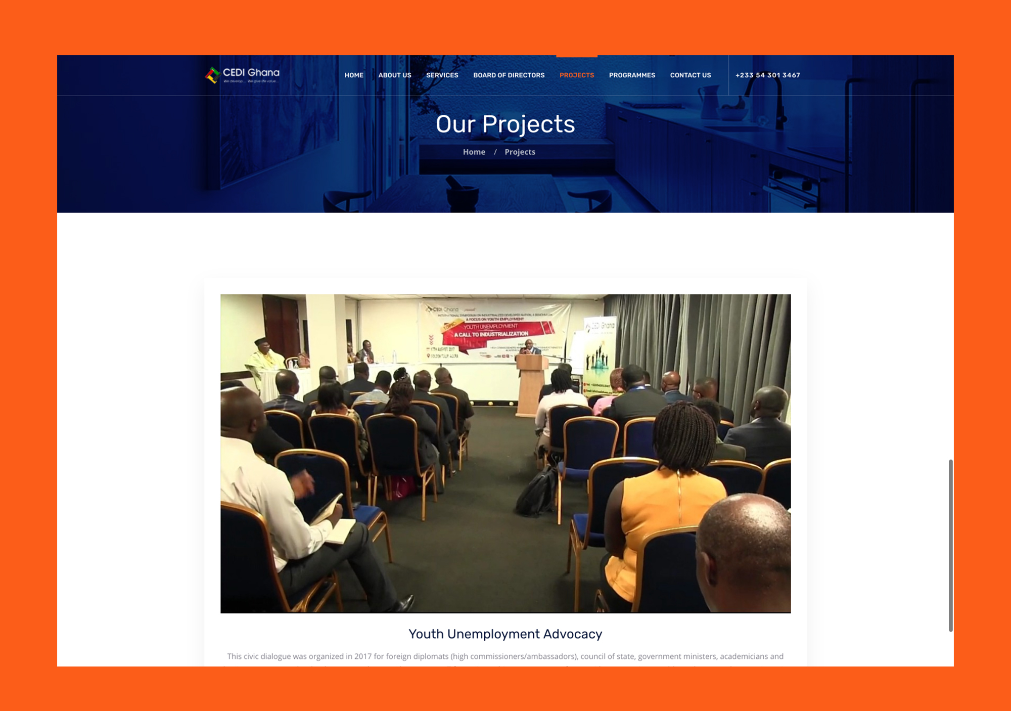 CEDI Ghana Website - Anchora Technologies