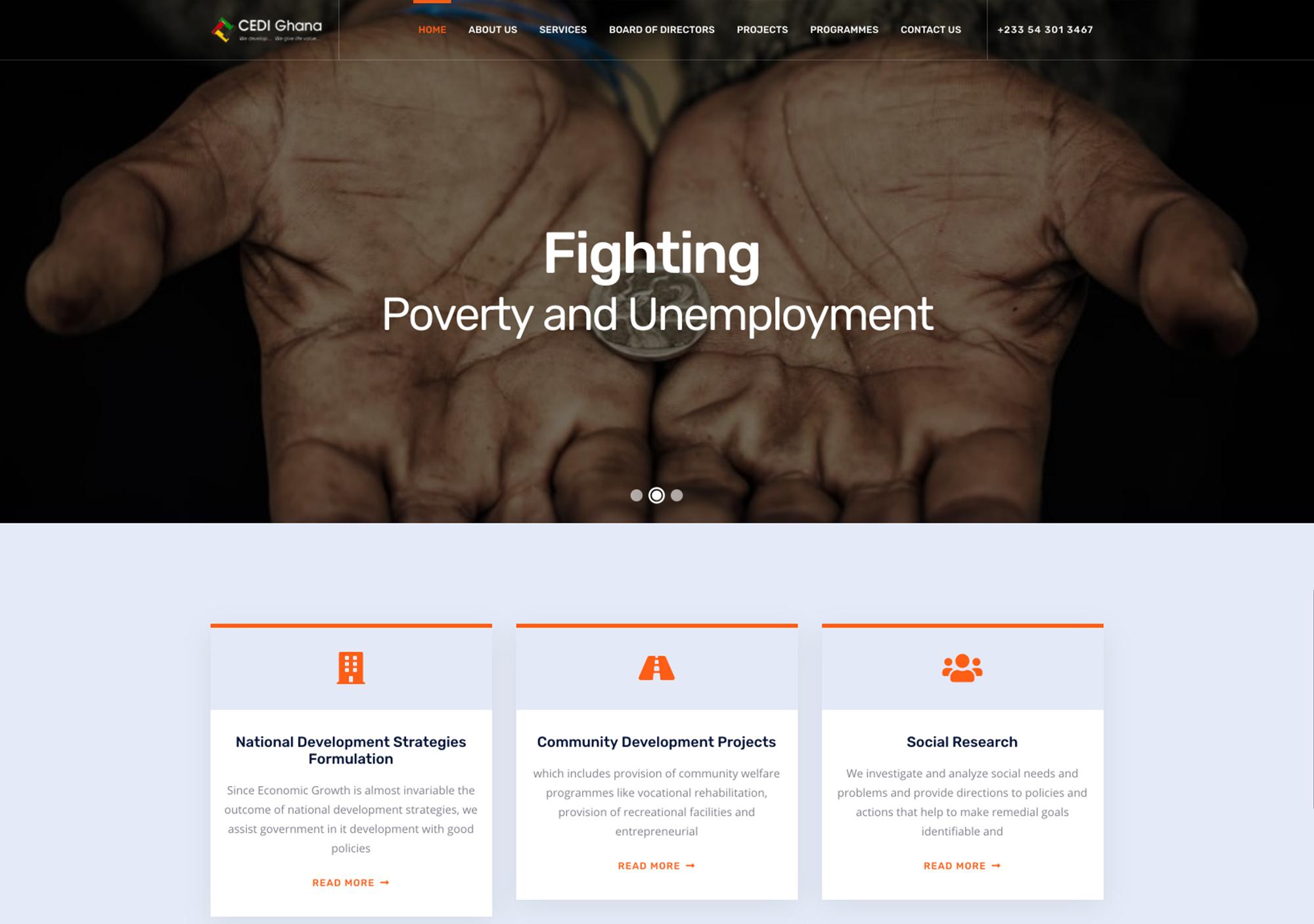 CEDI Ghana Website - Anchora Technologies