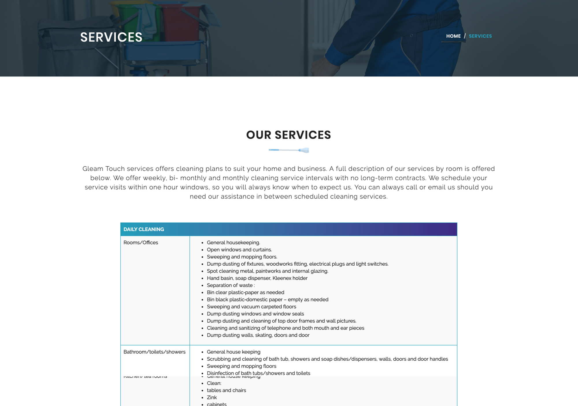 Gleam Touch Services - Anchora Technologies